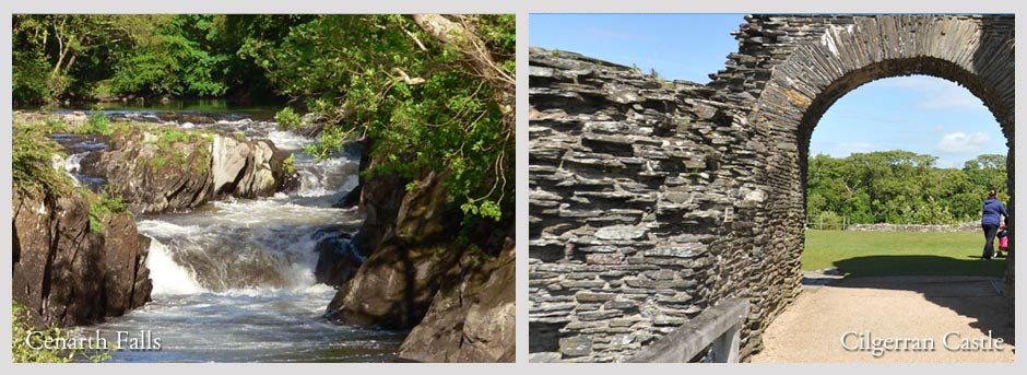 Cenarth Falls and Cilgerran Castle