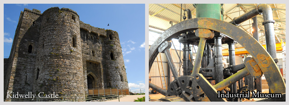 Kidwelly Castle and Kidwelly Industrial Museum