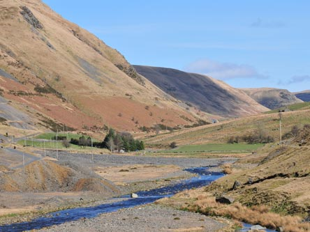 Spoil heaps and the River Ystwyth