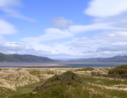View up Dyfi Valley from the Dunes