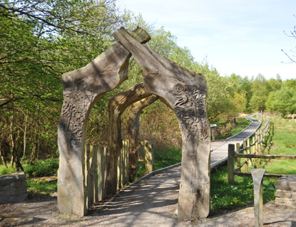 Sculpted Gates at Cors Caron