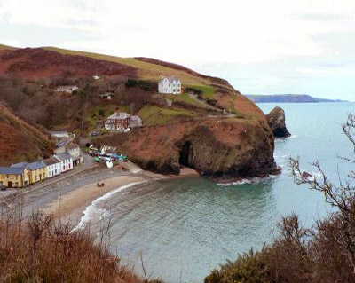 View of Llangrannog from the Coastal Path