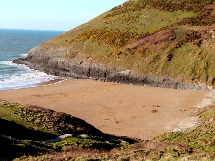 Secluded Beach at Mwnt