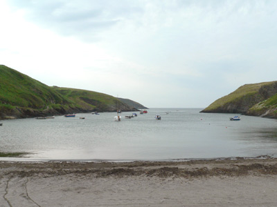 High tide at Abercastle