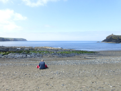 A quiet day at Abereiddy beach