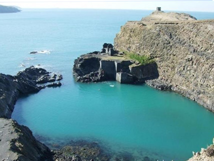 The Blue Lagoon at Abereiddy