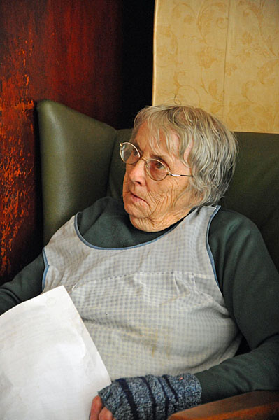 Bessie Davies (aged 80) of the Dyffryn Arms, Pontsian in the Gwuan Valley