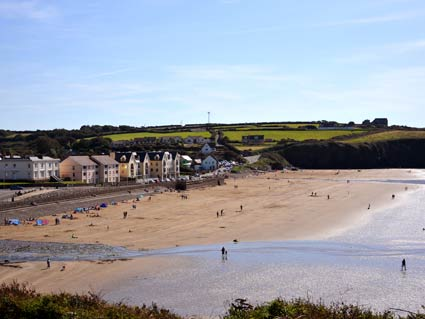 Broadhaven beach and village