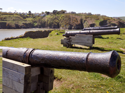 Cannons on Fishguard Fort
