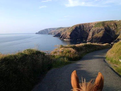Approach to Ceibwr on Horseback