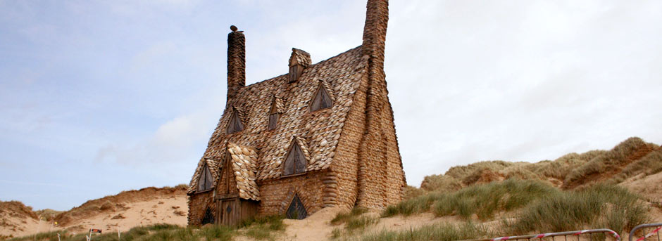 Harry Potters Shell House at Freshwater West