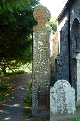 Celtic Cross at St Brynach's Church