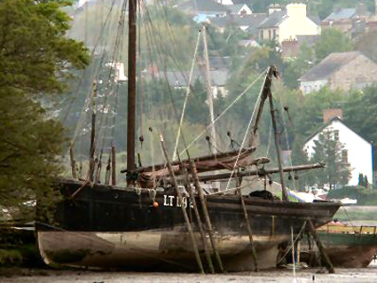 Old Fishing Boat on the Teifi River, St Dogmaels