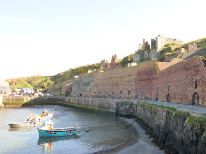 Porthgain Harbour with now redundant gravel hoppers