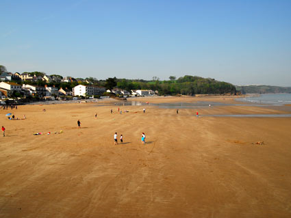 Saundersfoot Beach and Town