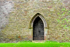 Arched doorway at Brecon Cathederal