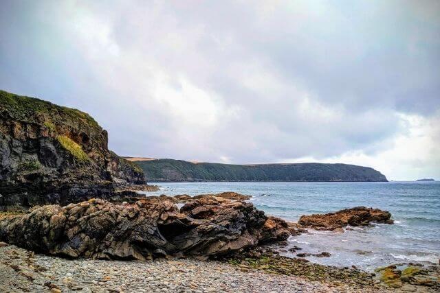 Cliffs and beach along the Pembrokeshire Coast National Park